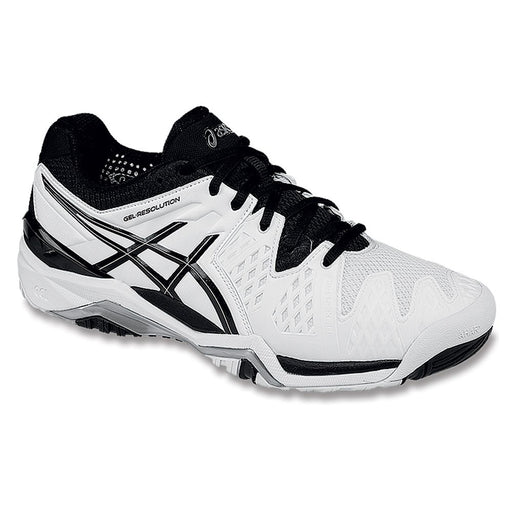 Asics Men's Gel-Game 5 Tennis Shoes in White/Black/Silver - ATR Sports