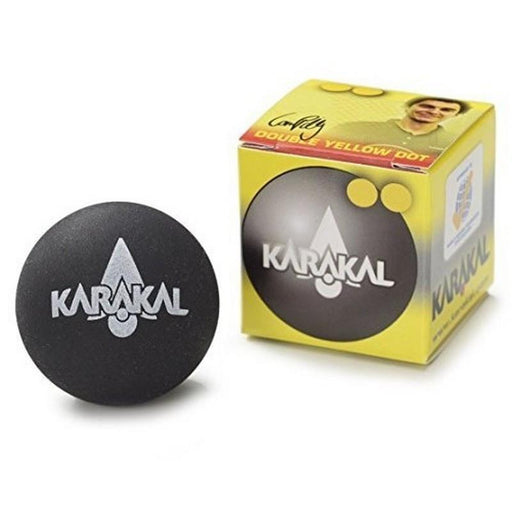 Karakal Double Yellow Dot Squash Balls (1 Ball) - atr-sports
