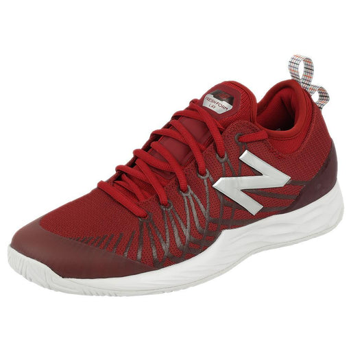 New Balance Men's Fresh Foam Lav Gitman Tennis Shoes - Scarlet/White - atr-sports