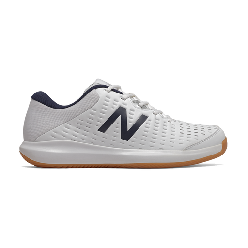 New Balance Women's Indoor Court Shoes in White/Black - WCH696G4