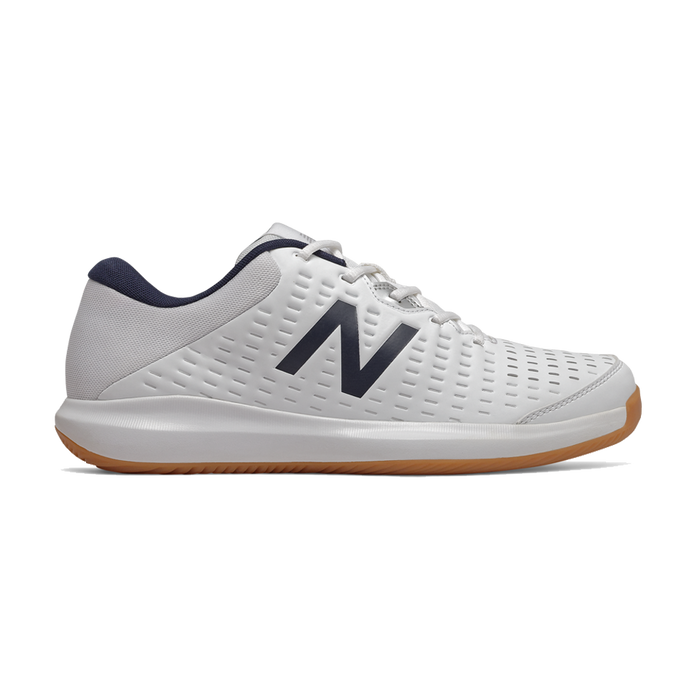 New Balance Men's Indoor Court Shoes in White/Black - MCH696G4