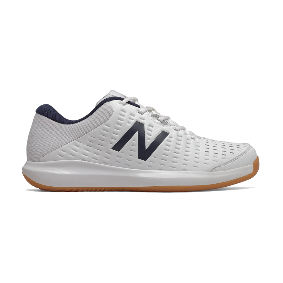 New Balance Men's Indoor Court Shoes in White/Black - MCH696G4 WIDE (2E)