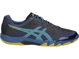 Asics Men's Gel-Blade 6 Indoor Court Shoes in Grand Shark/Light Teal