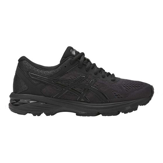 Asics Women's Gt-1000 6 Width D Running Shoes in Black/Black/Silver - atr-sports