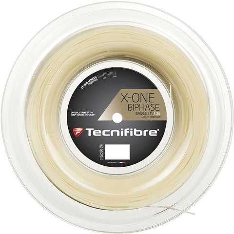 Tecnifibre X-One Biphase 17 Tennis String Reel in Natural - atr-sports