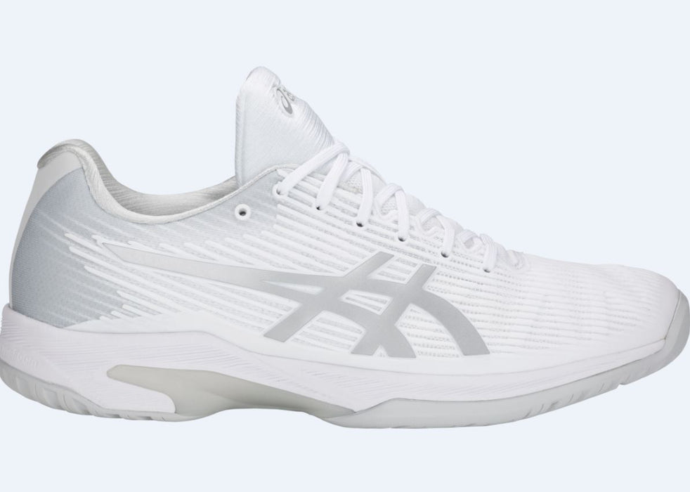 Asics Men's Solution Speed FF Tennis Shoes in White/Silver