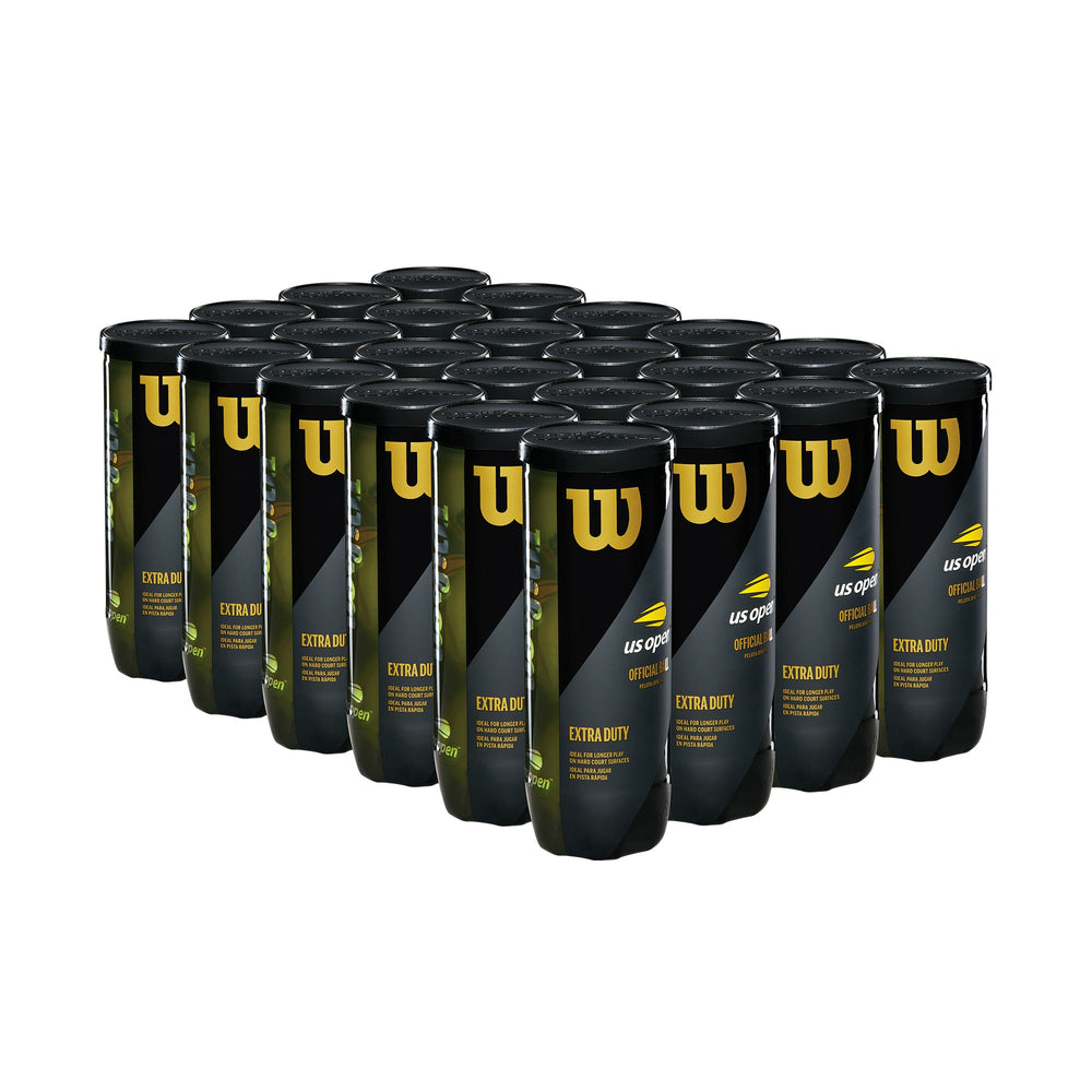 Wilson US Open Extra Duty 3 Tennis Ball Case - 24 Cans - atr-sports