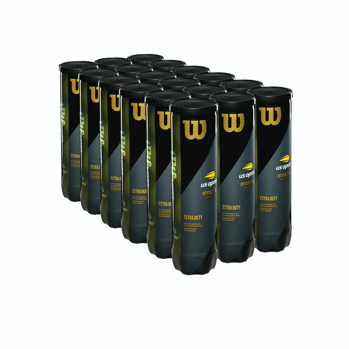 Wilson US Open Extra Duty 4 Tennis Ball Case - 18 Cans - atr-sports