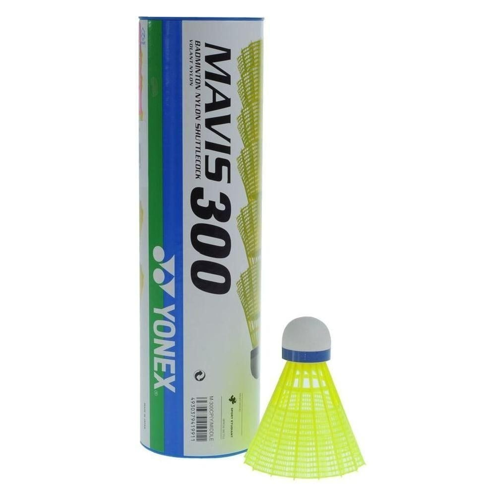 Yonex Mavis 300 Nylon Shuttle Medium Yellow- 10 Shuttle Tubes - atr-sports