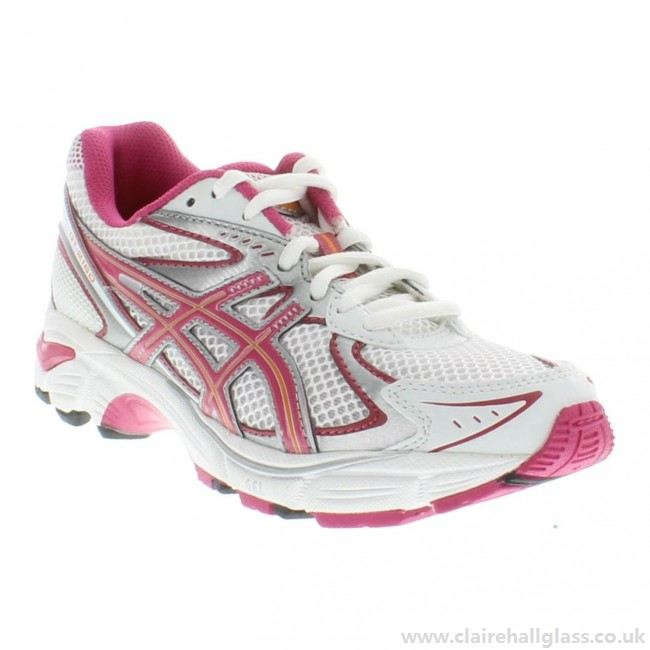 Asics Kid's GT-2160 GS Running Shoes in White/Fuschia/Orange - atr-sports