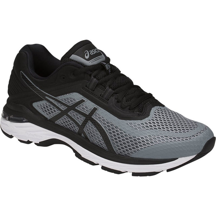 Asics Men's GT-2000 6 Width D Running Shoes in Stone Grey/Black/White - atr-sports