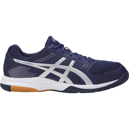 Asics Men's Gel-Rocket 8 Indoor Court Shoes in Indigo Blue/Silver/White - ATR Sports