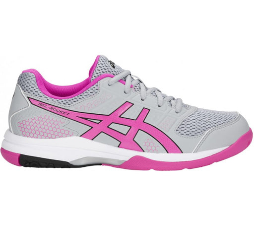 Asics Women's Gel-Rocket 8 Indoor Court Shoes in Mid Grey/Pink Glo