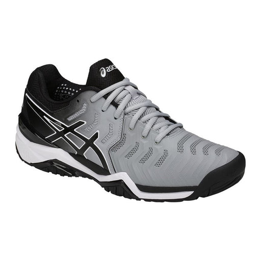 Asics Men's Gel-Resolution 7 Tennis Shoes in Mid Grey/Black/White - atr-sports