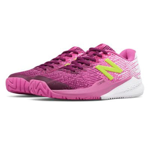 New Balance Women's WC 996v3 Tennis Shoes JF3 in Pink/Yellow-ATR Sports