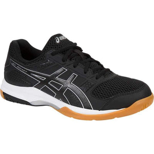 Asics Women's Gel-Rocket 8 Indoor Court Shoes in Black/Black/White-ATR Sports