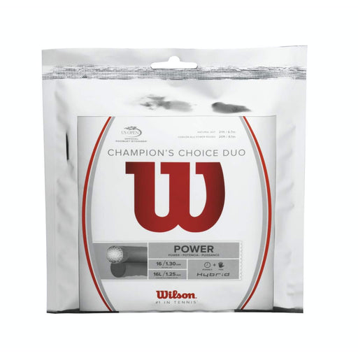 Wilson Champion Choice Duo 16 Natural Hybrid Tennis String Set - atr-sports