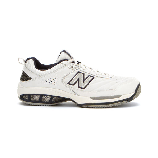New Balance Men's MC806W Tennis Shoes in White/Navy - ATR Sports