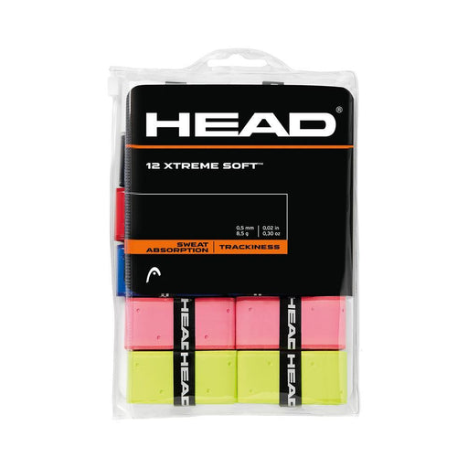 Head 12 pack  XTREME Soft Overgrips (Assorted) - atr-sports