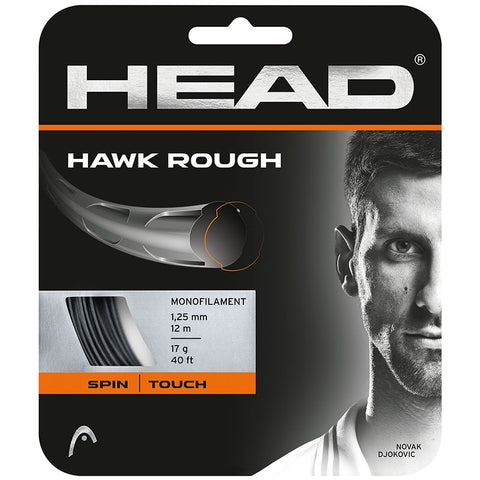 Head Hawk Rough 17 Tennis Strings in Grey - atr-sports