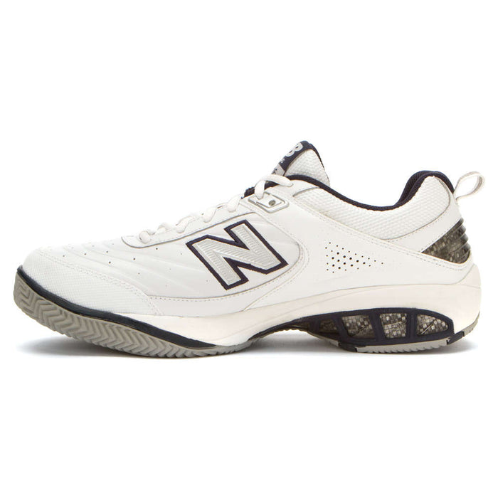 New Balance Men's MC806W Tennis Shoes in White/Navy - atr-sports