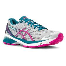Asics Women's Gt-1000 5 Width D  Running Shoes in Glacier Grey/Pink Glow/Ocean Depth - atr-sports