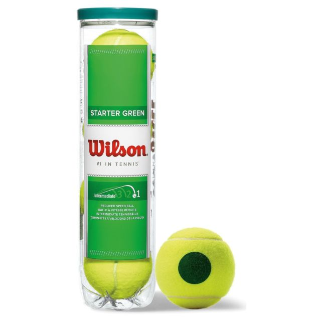 Wilson Starter Green Tennis 4 Ball Tin-ATR Sports