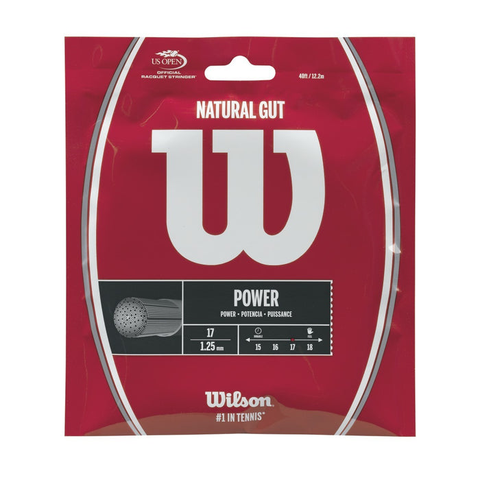 Wilson Natural Gut Power 17 Tennis String Set - atr-sports