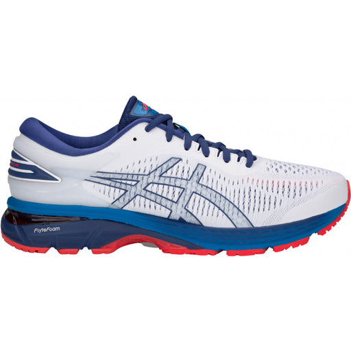 Asics Men's Gel-Kayano 25 Running Shoes in White/Blue Print - atr-sports