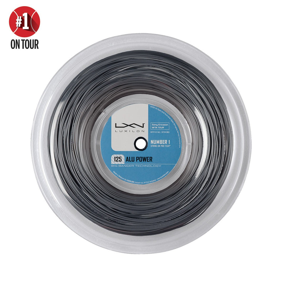Wilson Luxilon Alu Power Silver 220m Reel Tennis String - atr-sports