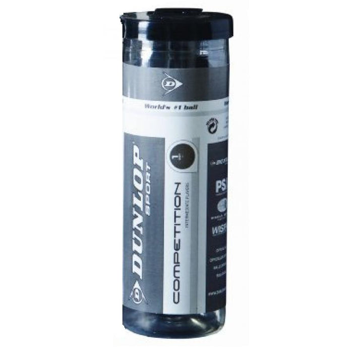 Dunlop Competition Squash 3 Ball Tube - atr-sports