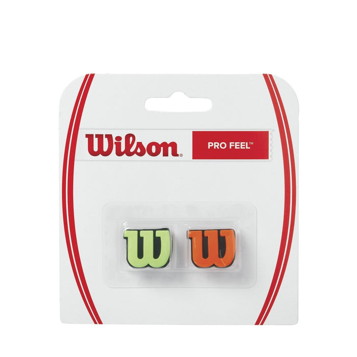 Wilson Pro Feel Racquet Green Orange Dampener - atr-sports