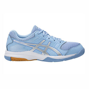 Asics Women's Gel-Rocket 8 Indoor Court Shoes in Airy Blue/Silver/White - ATR Sports