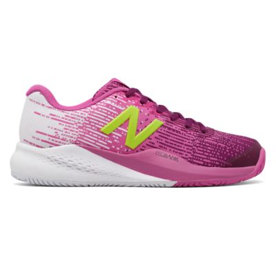New Balance Women's WC 996v3 Tennis Shoes JF3 in Pink/Yellow - ATR Sports