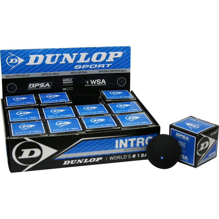 Dunlop Intro Squash Ball - (1 Dozen) - atr-sports