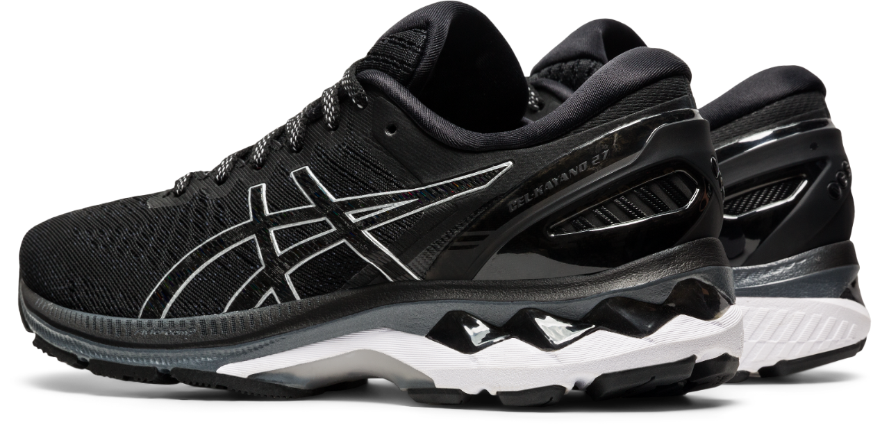 Asics Women's Gel-Kayano 27 Running Shoes in Black/Pure Silver
