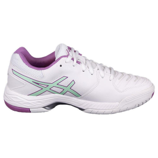 ASICS Women's Gel-Game 6 Tennis Shoes in White/Paradise Green/Campanula - atr-sports