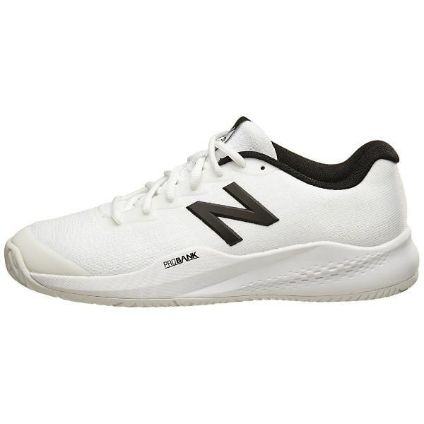 New Balance Men's 996 V3 Tennis Shoes in White/Black - atr-sports