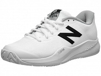 New Balance Women's 996 V3 Tennis Shoes in White/Black - atr-sports