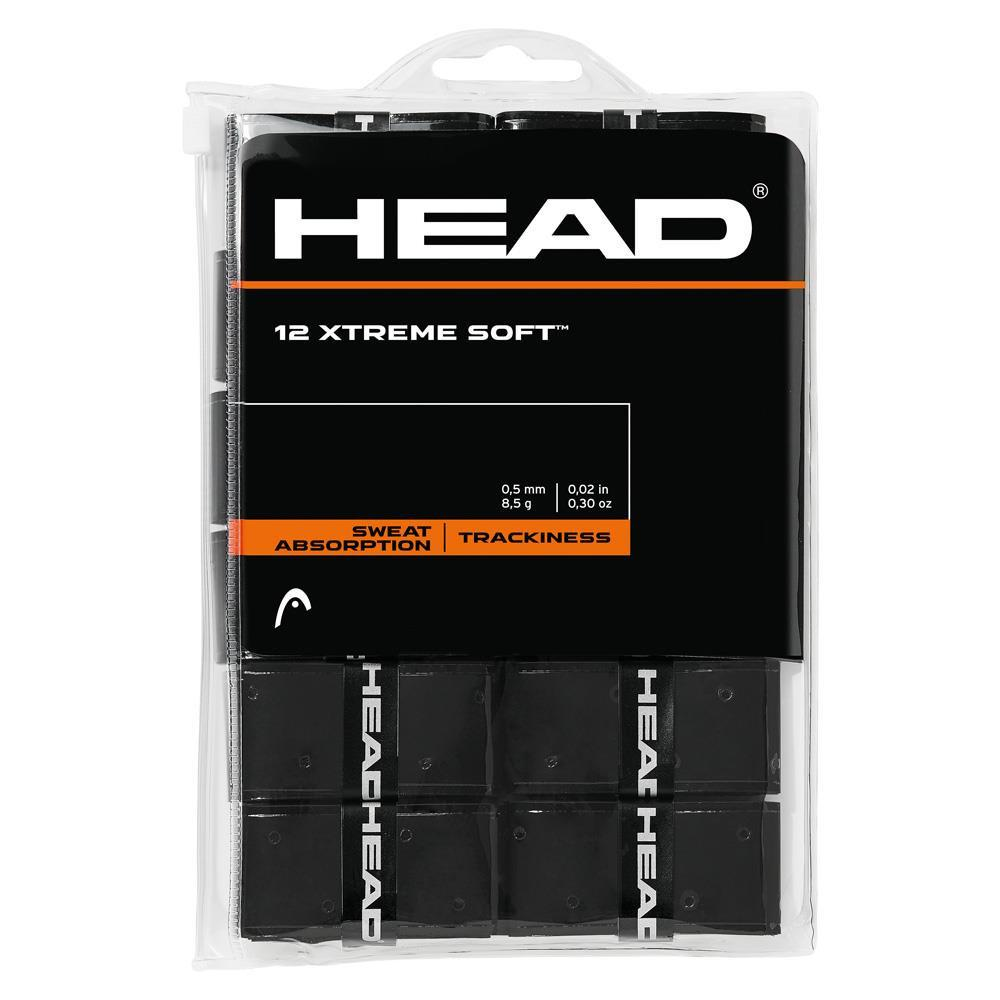 Head XTREME Soft Overgrips - 12 pack (Black) - atr-sports