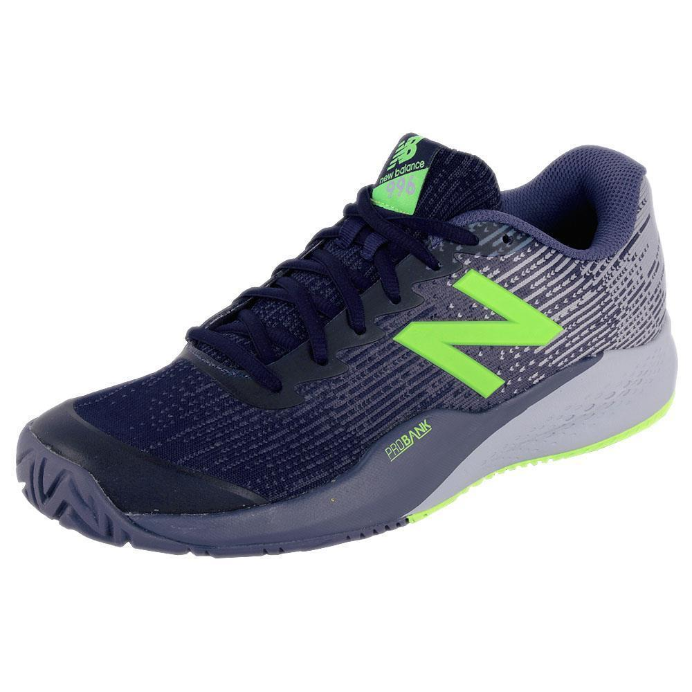 New Balance Men's 996 V3 Tennis Shoes in Lime/Blue - atr-sports