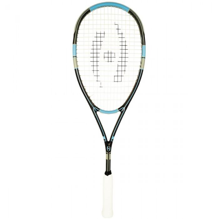 Harrow Stealth Squash Racquet in Black/Carolina/Grey - atr-sports