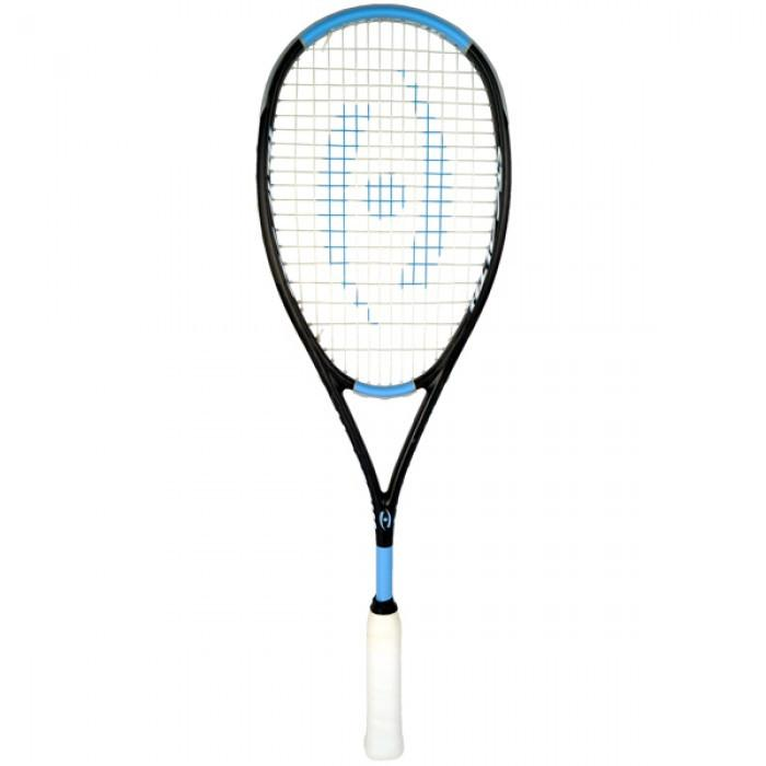 Harrow Stealth Ultralite Squash Racquet in Black/Carolina - atr-sports