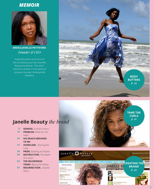 Janelle Beauty Book - Homemade Beauty Treasures Hardcover with Gift Box