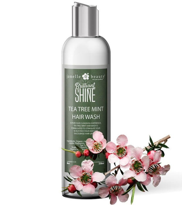 Janelle Beauty® Brilliant Shine Tea Tree Mint Hair Wash - Set of 4