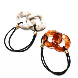 Erica Resin Hair Ties - 2 Colours