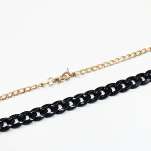Acrylic Fashion Interchangeable Bag Chain - Black