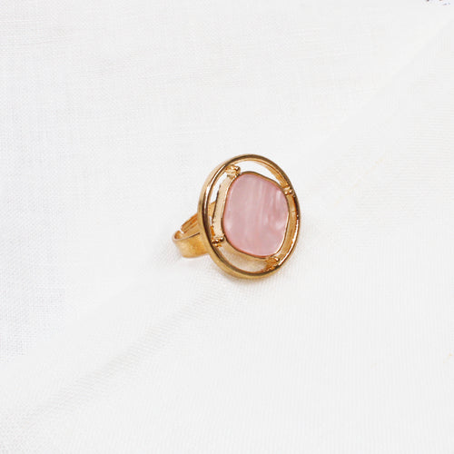 Lover Faux Stone Ring - Pink