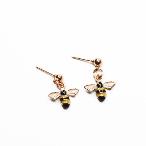 Honey Bee Dangle Earring