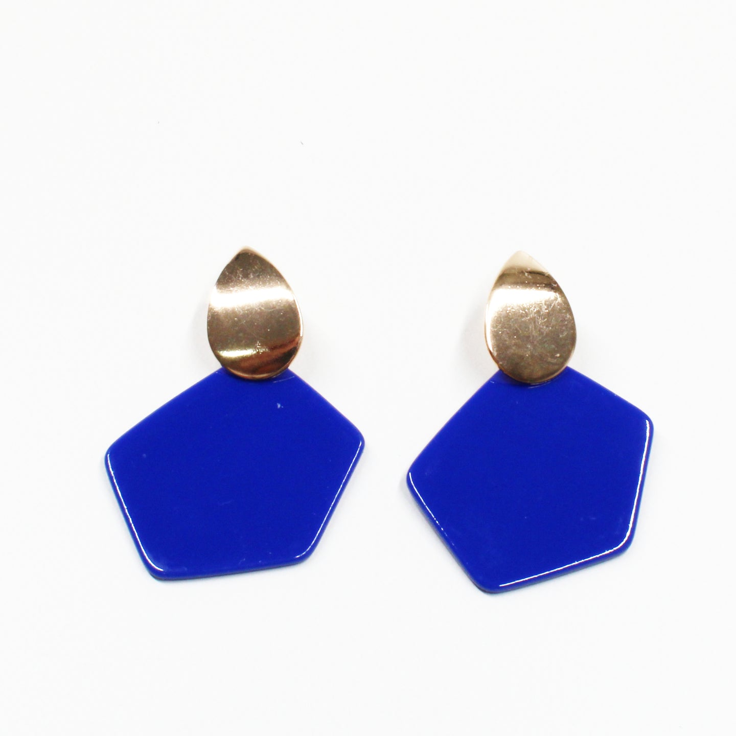 The Artist Resin Earring - Blue